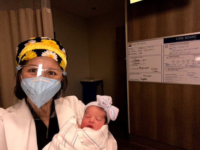 Dr. Pham and baby Olivia