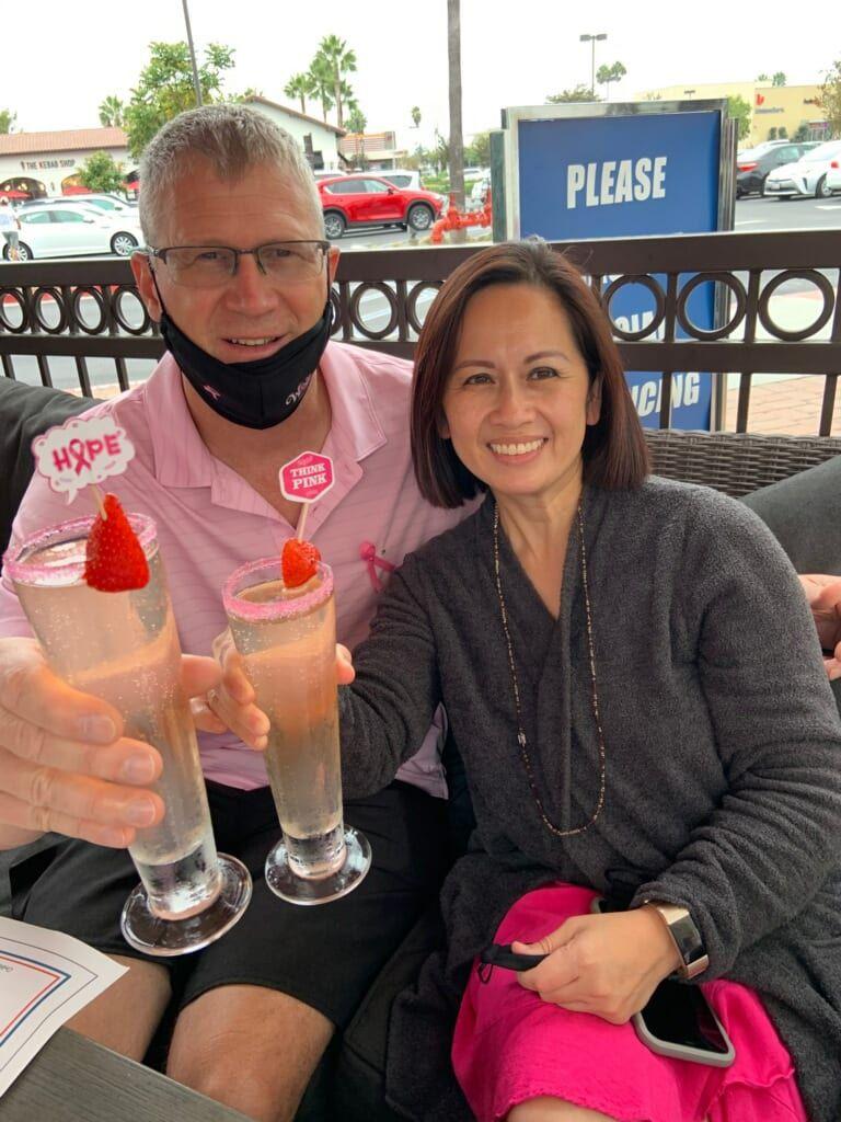 Krystal Pham and her husband